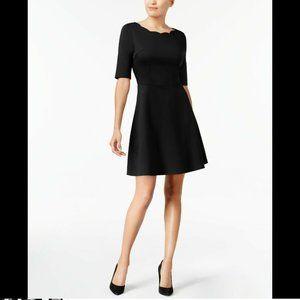 Monteau Women's PM Petite Scalloped-Neck Dress